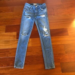 Agolde Sophie High Rise Distressed  Skinny Jeans
